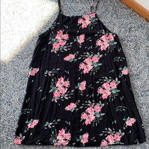 Black Floral Vans Sun Dress